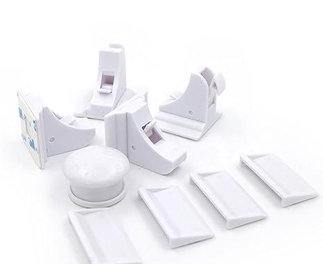 Conjunto de Cerradura Invisible Magnética Bebé Bloqueo de Seguridad para Bebé y Niños, Cierre Magnético