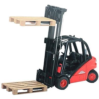 Bruder 02511 Linde H30D Forklift with 2 Pallets: Toys & Games