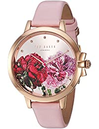 Womens Ruth Quartz Stainless Steel and Leather Casual Watch, Color:Pink (