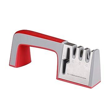 Afiladores de cuchillos y tijeras, 4 en 1 Herramienta de ...
