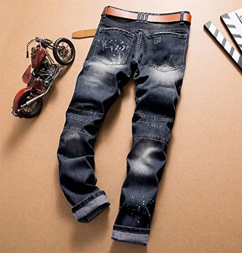Jeans Ripped Stung Pantalones De Men\'s Fit Moto Blau Pantalones ...