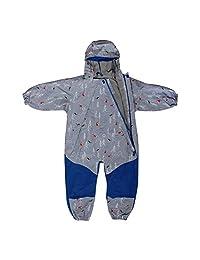 Jan & Jul Kids Water-Proof Fleece-Lined Rain Suit One-Piece Hooded 1-5 Years Old