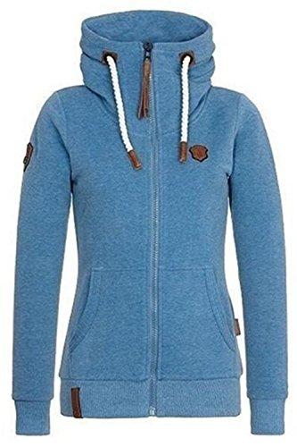 [해외]Yanekop Womens 플러스 크기 전체 지퍼 까마귀면 따뜻한 헐거운 자켓 스웨터/Yanekop Womens Plus Size Full Zip Up Hoodie Cotton Warm Hooded Jacket Sweatshirt
