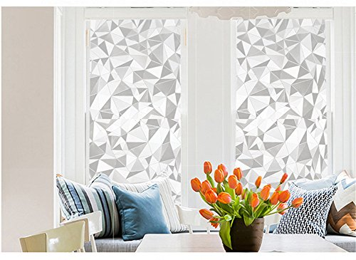 Frosted Gravel - Frosted Window Film Privacy Static Cling Glass Cover Film for Home Office 17.7 by 78.7 inches (Gravel)