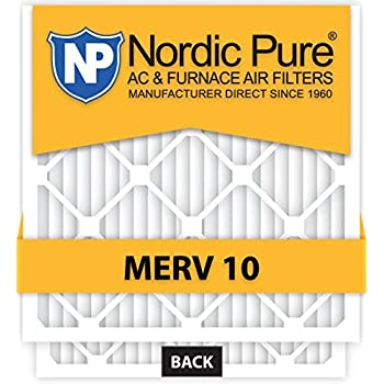 10 Pack Stainless Steel Wire-Backed Pleated Air Filter Made in USA 12 Nom Height x 20 Nom Width x 1 Nom Depth