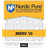 Nordic Pure 18x20x1 MERV 10 Pleated AC Furnace Air Filter, Box of 6 by Nordic Pure