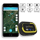 GPS Tracker, No Monthly Fee Real Time GPS Tracker goTele Off-grid GPS Tracking Gear No Required Network Tracking Device/Outdoor, Hiking, Hunting, Children and Pets Trackers (1 Pack)