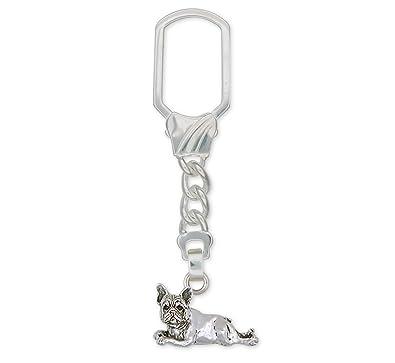 Francés Bulldog Llavero joyería plata de ley hecha a mano ...