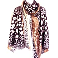 Floral and Modern Print Sheer Shawl Wrap 【Colorful Spring Inspired】Womens Lightweight Fashion Scarf
