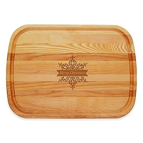 Carved Solutions Everyday Collection Merry Christmas Star 21-Inch x 15-Inch Cutting Board