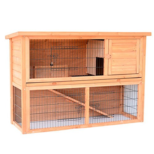 Pawhut-54-in-Wooden-Rabbit-HutchBunny-House-with-Outdoor-Run