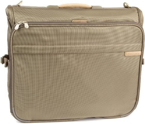 Briggs & Riley Baseline Deluxe Garment Bag,Olive,20.5x22x11.5