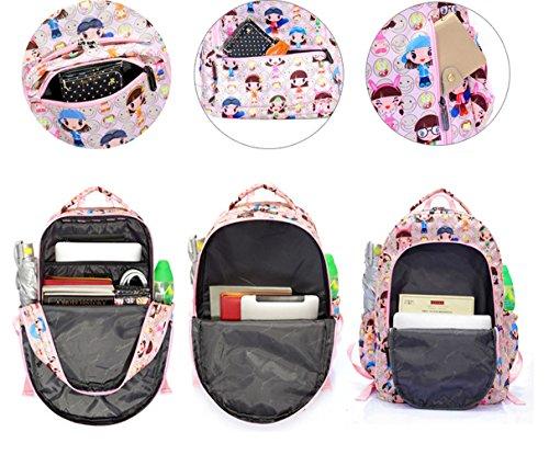 Tibes Mochila de estilo encantador Cute Bolsas Mochila divertida para niños Multicolor 3