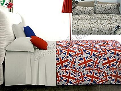 Copripiumino Matrimoniale Bandiera Inglese.Zambaiti Parure Copripiumino Sacco Matrimoniale 2 Piazze London