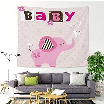 Kleiner Dinosaurier / Bär Verdickung Tapisserie Kinderzimmer Wand  Hintergrund Dekorative Leinwand Tuch , Elephant , 150x130