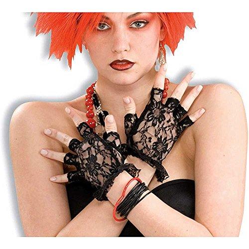 Forum Novelties Black Fingerless Gloves