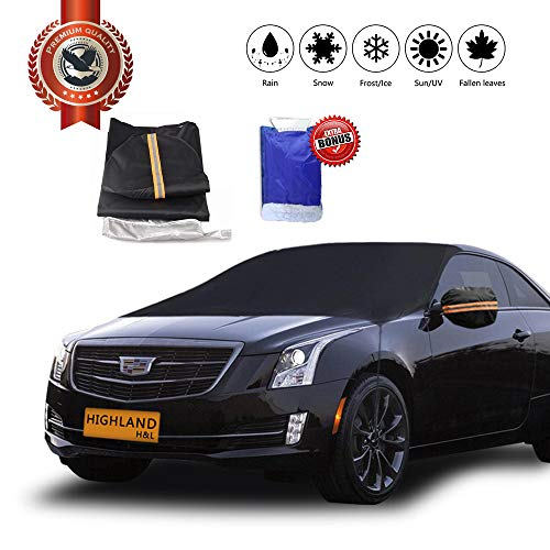 H&L Highland Snow & Ice Winter Weather Car Windshield Cover Ice Removal Wiper Visor Protector All Weather Winter Summer Auto Sun Shade for Cars (Normal) ()