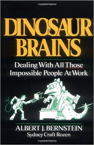 Dinosaur Brains Dealing With All Those Impossible People At Work Bernstein Albert J Rozen Sydney Craft 9780471618089 Amazon Com Books