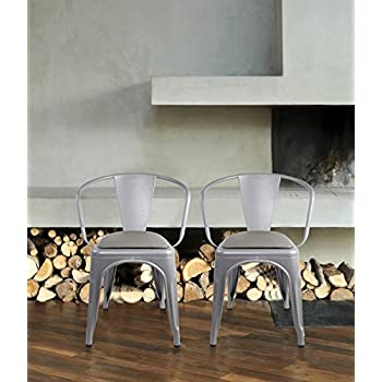 GIA Metal Dining Chairs With Back1 PACK