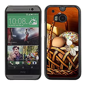 Hot Style Cell Phone PC Hard Case Cover // M00102911 basket food photos // HTC One M8