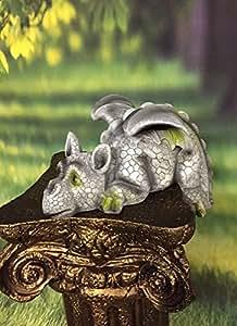Dragón tumbado borde Plazas figura decorativa