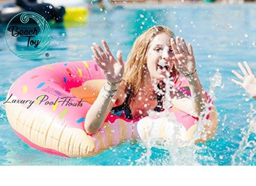Beach Toy® - Flotador hinchable DONUT rosa, 110 cm diámetro: Amazon.es: Juguetes y juegos