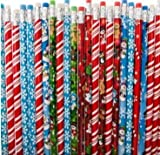 Rhode Island Novelty FBA_ZCPENCI Lot of 144 Assorted Christmas Holiday Theme Wooden Pencils-7.5&Quot