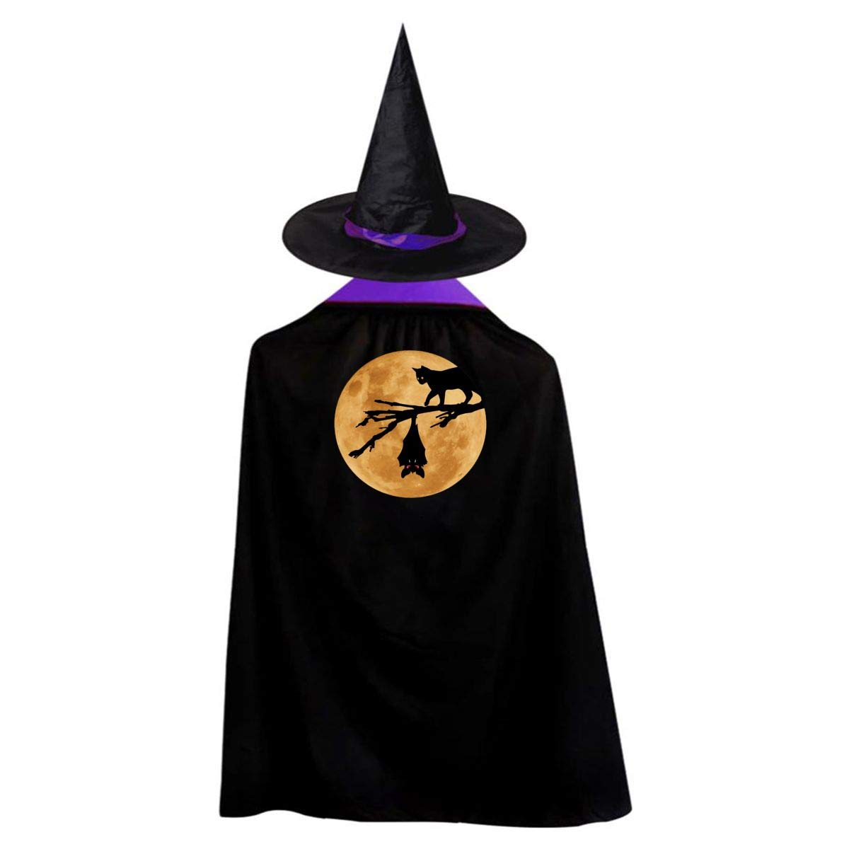 f89d02b6c1e Amazon.com: Halloween Kids' Witch Cape With Hat Simple Vampire Cloak ...