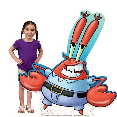 4 ft. 11 in. Mr. Krabs Spongebob Squarepants Standee Standup Photo Booth Prop Background Backdrop Party Decoration Decor Scene Setter Cardboard Cutout]()