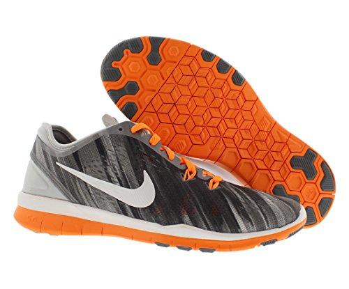 Nike Free 5.0 Tr 5 Fit Prt Kvinners Lyse Sitrus / Hvit / Ren Platina / Kule Grå Trenings Joggesko Lyse Sitrus / Hvit / Ren Platina / Kul Grå