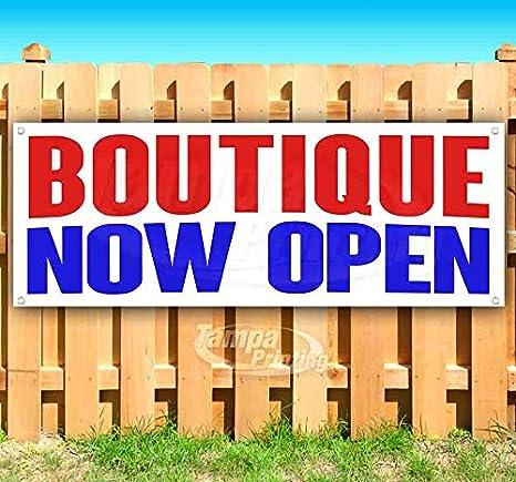 Amazon.com: Boutique Now - Cartel de vinilo con ojales de ...