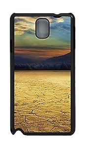 Samsung Note 3 Case Cracked Desert PC Custom Samsung Note 3 Case Cover Black