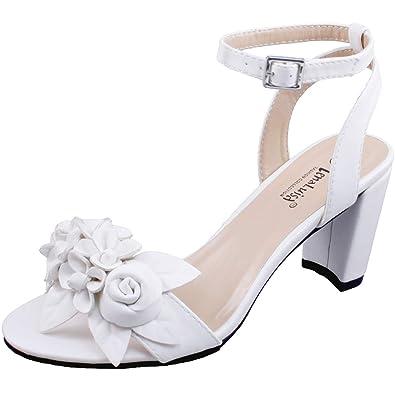 cc9751775 LenaLuisa Amber-27 Floral Block Heel Sandal (5