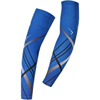 Spoz Pro Outdoor Sport Blue Breathable Arm Sleeves