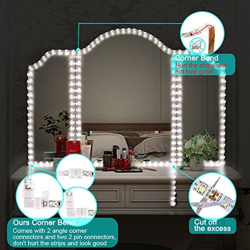 Litake LED Light Strip Kit with Dimmer and Power Supply, 240 Units SMD 2835 LEDs, 13ft/4M 12V LED Ribbon, 6000K Daylight White LED Strip Lights, Non-Waterproof LED Tape by Litake (Image #2)