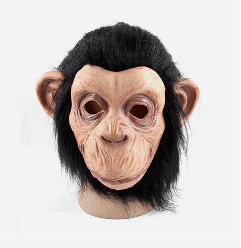 [Gmasking Realistic Latex Chimp Masks Costume] (Monkey See Monkey Do Costume)