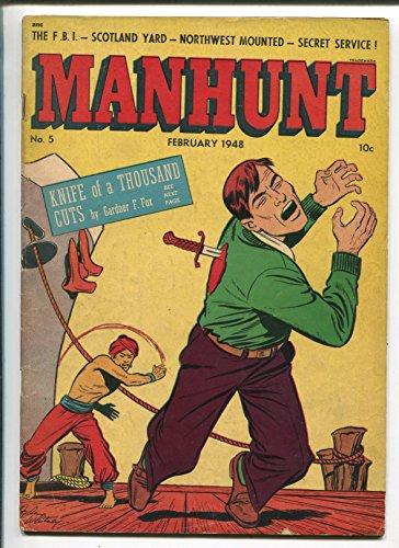 Manhunt #5 1948-ME-LB Cole-RCMP Mounties-FBI-Scotland Yard-Undercover Girl-VG ()