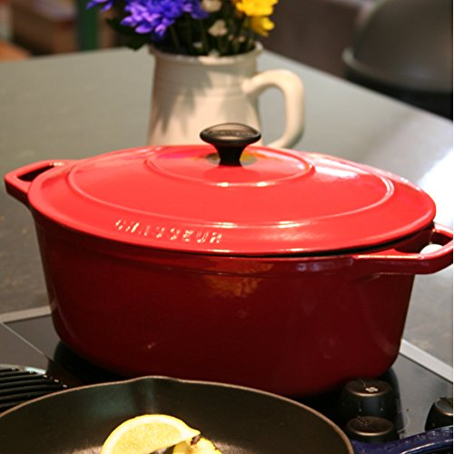 Chasseur 5.5-quart Blue French Enameled Cast Iron Round Dutch Oven