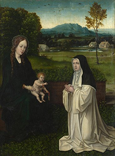 The Museum Outlet - Style of Joachim Patinir - The Virgin and Child with a Cistercian Nun - Poster Print Online Buy (40 X 50 Inch)