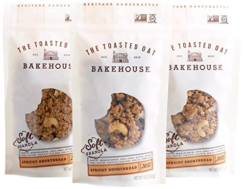 The Toasted Oat Bakehouse Gluten Free Apricot Shortbread Soft Granola, 3 Count