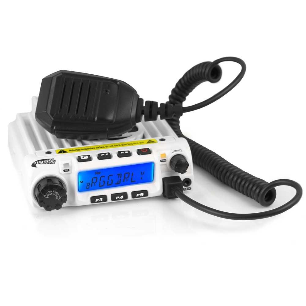 Rugged Radios RM60-V 60 Watt Two Way VHF Mobile Radio with Hand Mic Mounting Bracket and Mounting Hardware