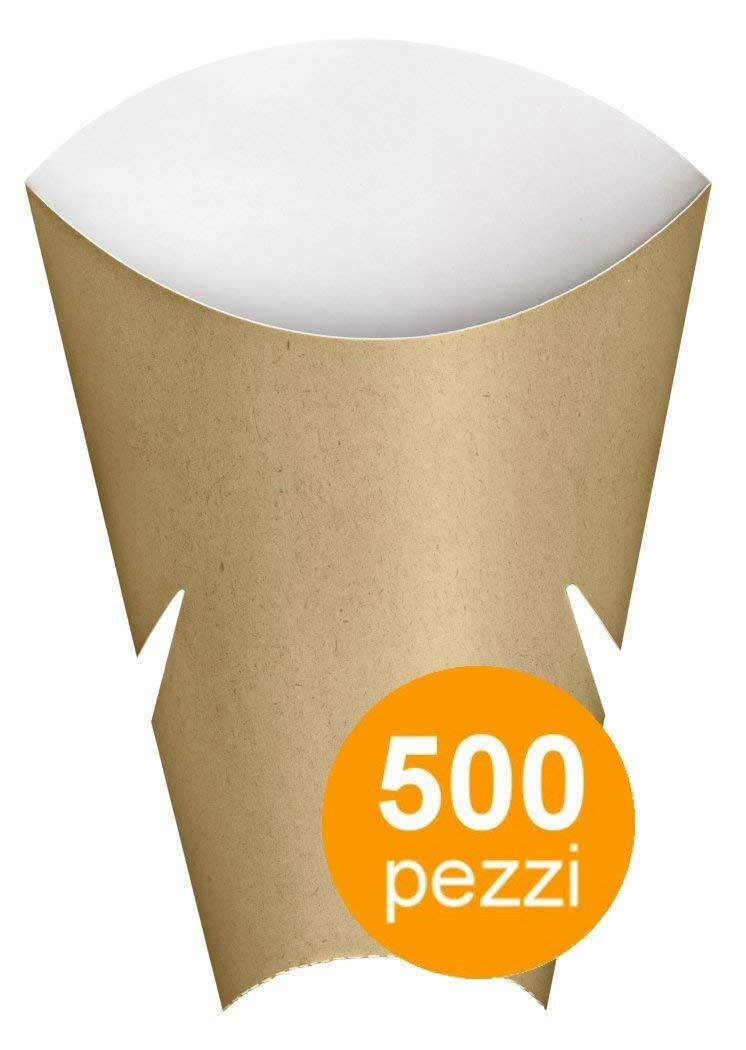 Contenitore aperto in cartoncino, per cibi fritti o per panini, abbinabile al Freebox - Cartone da 500 pz.