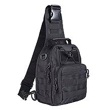 BeGrit Outdoor Tactical Shoulder Backpack Sling Chest Bag Sport Pack Daypack for Camping Hiking Trekking