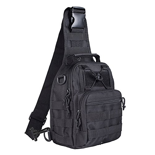 BeGrit Outdoor Tactical Shoulder Backpack Sling Chest Bag Sport Pack Daypack for Camping Hiking Trekking