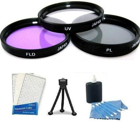 72MM Professional Hi Definition Polarized PL + UV + FD Filter Kit + Mini Tripod + LCD Screen Protectors + Camera Cleaning Kit For Nikon D80 D300 D3 D2Xs D2X D2H D700 Speciffic For Nikon 24-85 18-200mm 28-135 18-200OS VR F3.5-5.6G Lens by Digi