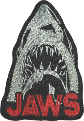 Jaws Patch Embroidered Iron / Sew Badge Shark Movie Poster Martin Brody The Revenge Costume Souvenir Applique
