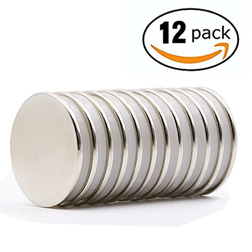 Neodymium Disc Magnets 1.26''D x 0.08''H,Strong,Permanent,Rare Earth Magnets,Fridge,DIY,Building,Scientific,Craft and Office Magnets by HTCARE