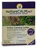 "NatureCALM 24/7 Feline Calming Pheromone Collar (Upto 15"" Neck) by Meridian Animal Health"