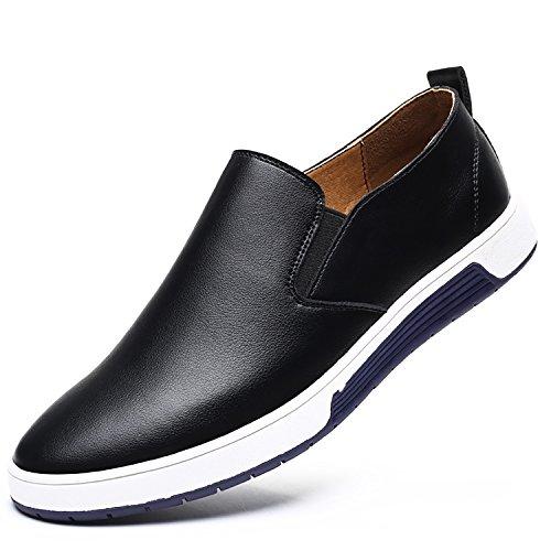 Men Casual Shoes Flat (Xipai Men's Casual Lofer Shoes Slip On Fashion Sneakers Black US 12)