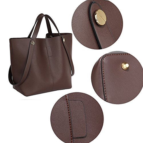 Shopper Set Bag Womens Handbag Coffee Shoulder Leather Ladies Large Purse Designer New 7CZqw